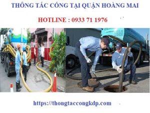 thông tắc cống tại quận Hoàng Mai