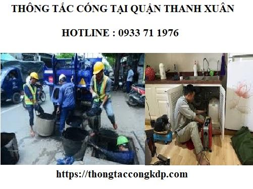 Thông tắc cống tại quận Thanh Xuân