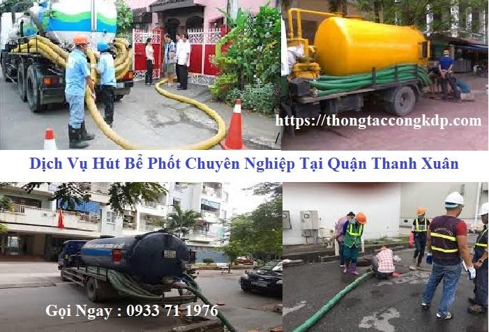 Hút bể phốt tại quận Thanh Xuân
