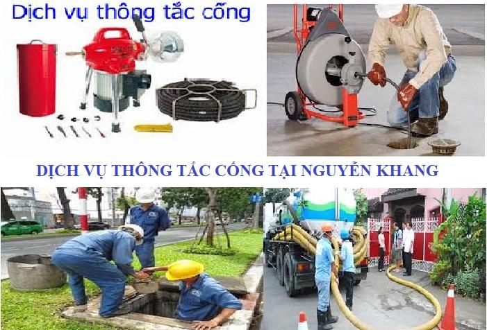 Thông tắc cống tại Nguyễn Khang