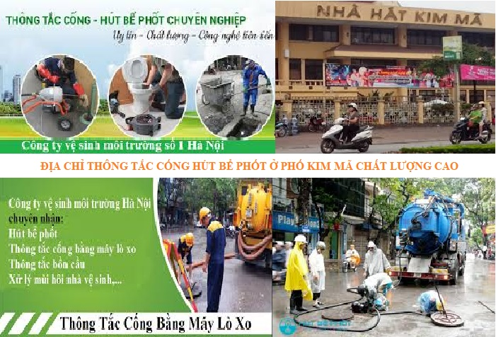 Thông tắc cống tại Kim Mã