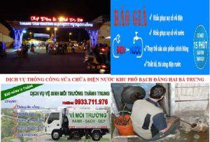dịch vụ thông tắc cống tại Bạch Đằng