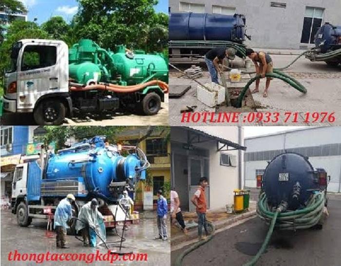 Thông hút bể phốt tại quận Hoàng Mai