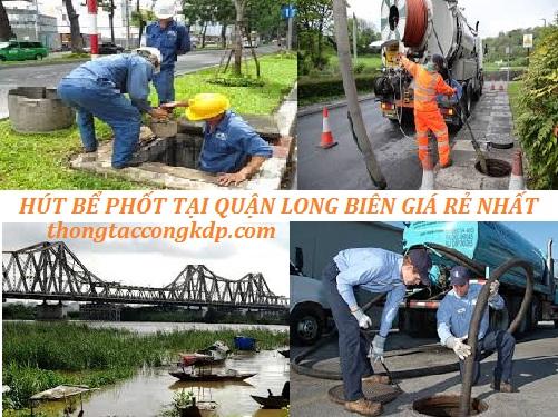hút bể phốt tại quận Long Biên