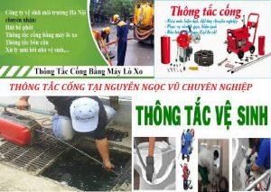 thông tắc cống tại Nguyễn Ngọc Vũ