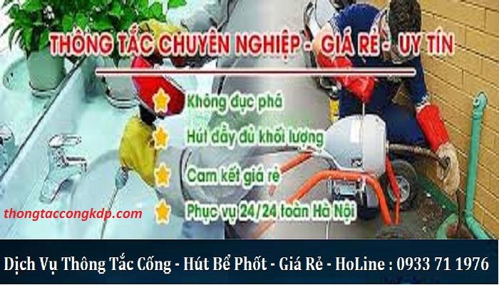thông tắc cống tại Trường Chinh